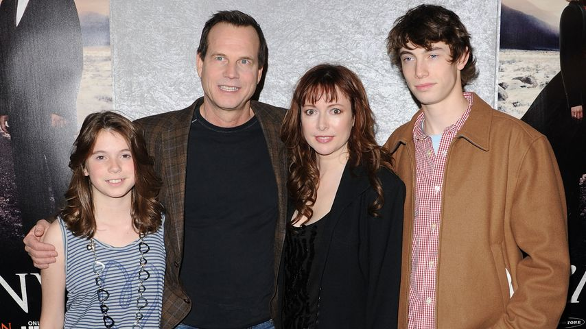 Bill Paxton, Ehefrau Louise, Sohn James und Tochter Lydia