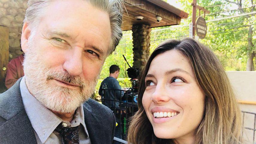 Bill Pullman und Jessica Biel, Mai 2018