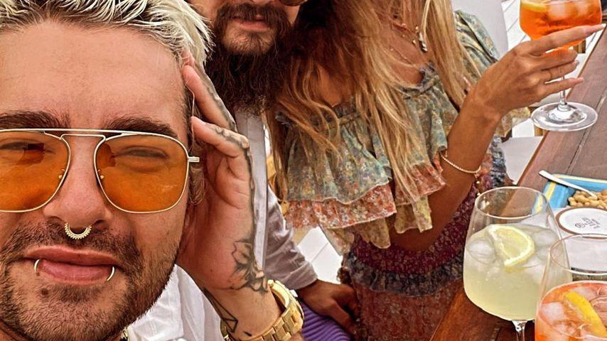 Bill Kaulitz, Tom Kaulitz und Heidi Klum im August 2021