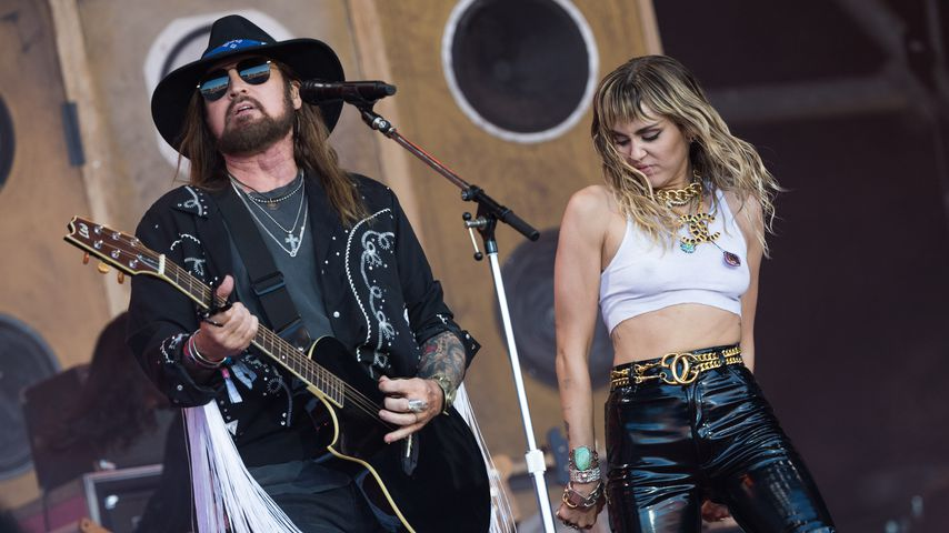 Billy Ray und Miley Cyrus im Juni 2019
