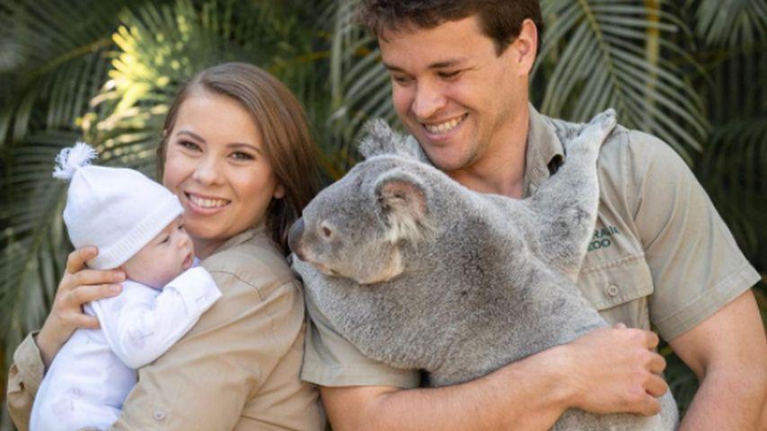Bindi Irwin und Chandler Powell mit ihrer Tochter Grace