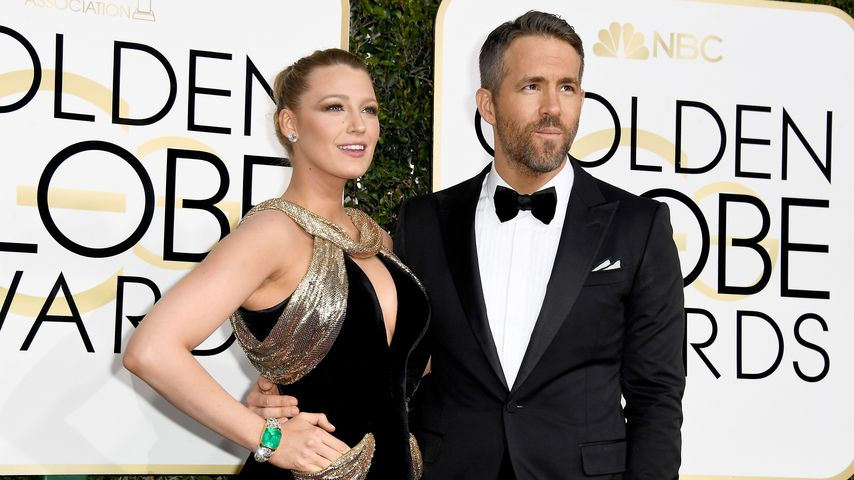 Blake Lively und Ryan Reynolds bei den Golden Globe Awards 2017