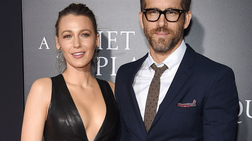 "Blake Lively und Ryan Reynolds bei der ""A Quiet Place""-Premiere in NYC im April 2018"