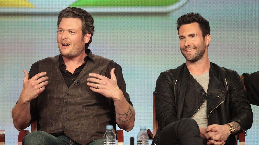 """""""The Voice""""-Juroren Blake Shelton und Adam Levine"""
