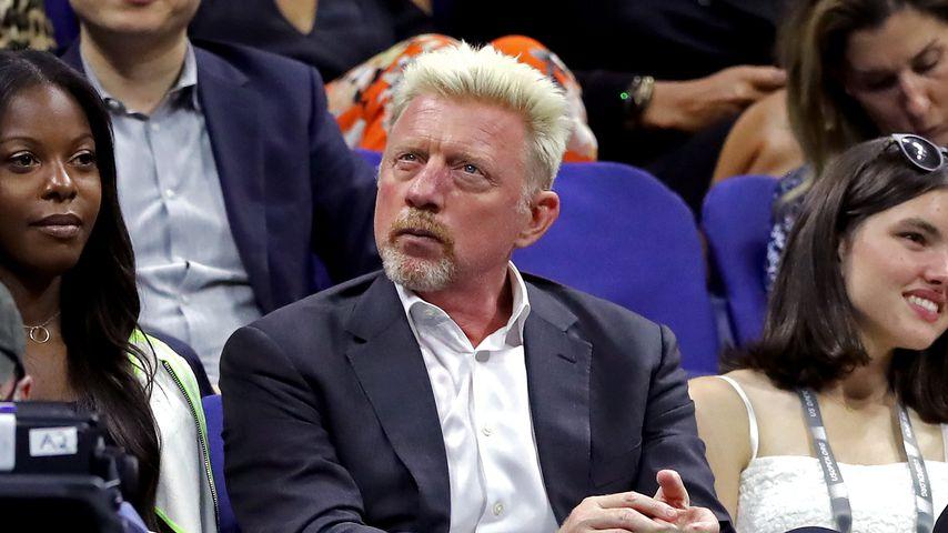 Boris Becker mit einer Unbekannten bei den US Open 2019