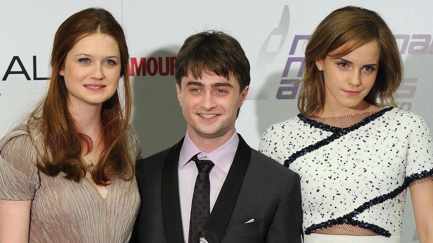 Bonnie Wright, Daniel Radcliffe und Emma Watson bei den National Movie Awards in London, 2010