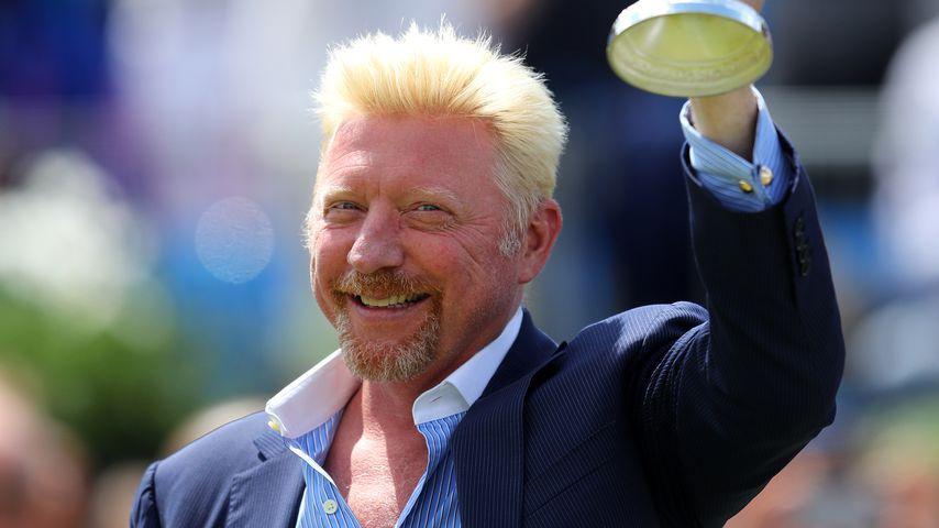 Boris Becker bei den AEGON Championships in Wimbledon