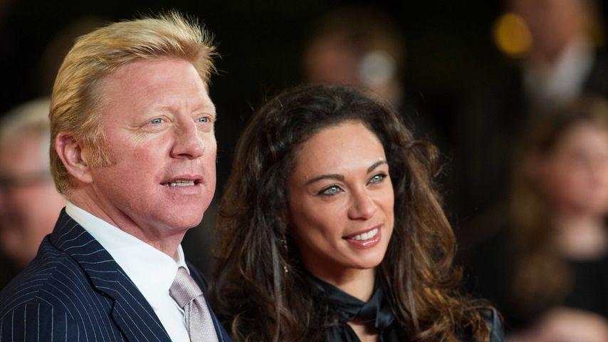 """Boris und Lilly Becker bei der """"Skyfall""""-Premiere in London im Oktober 2012"""