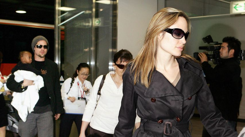 Brad Pitt, Angelina Jolie und ihre Kinder, 2005