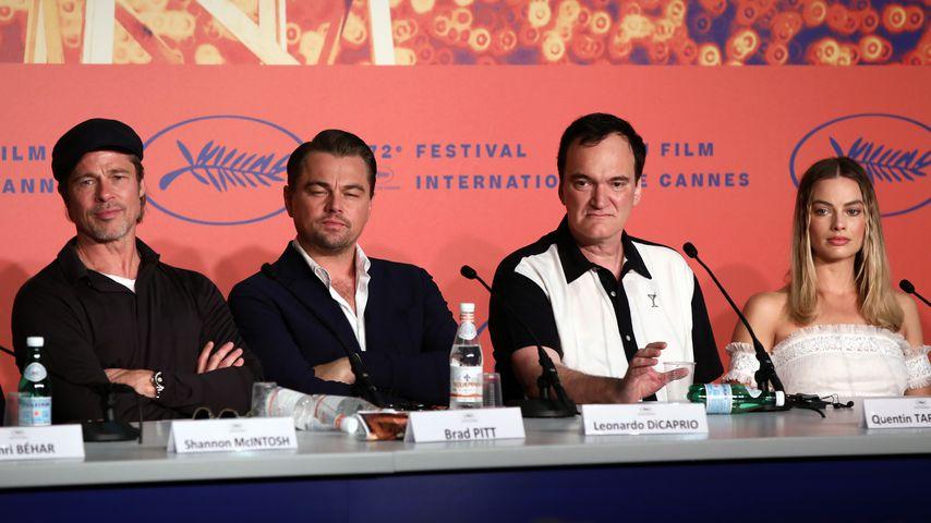 Brad Pitt, Leonardo DiCaprio, Quentin Tarantino und Margot Robbie