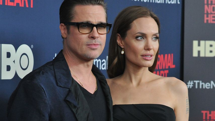 Brad Pitt und Angelina Jolie in New York
