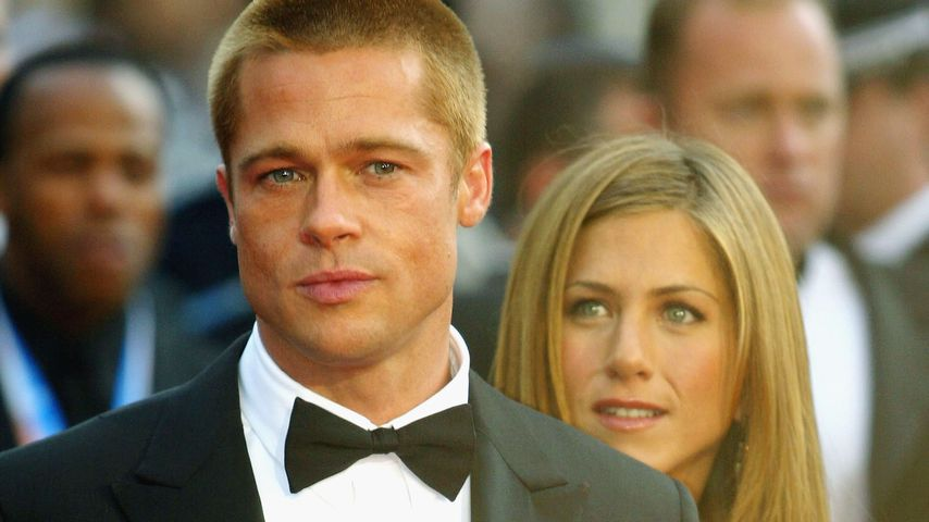 """Brad Pitt und Jennifer Aniston bei der Premiere von """"Troja"""", 2004"""