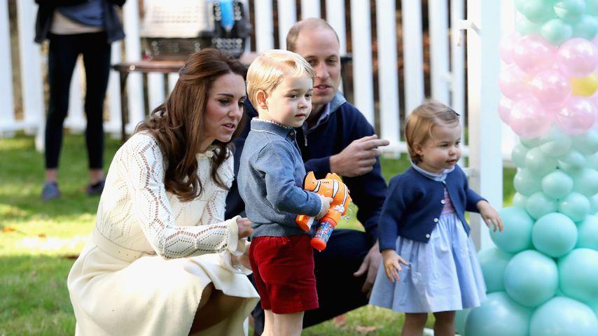 Prinz George, Herzogin Kate, Prinz William und Prinzessin Charlotte