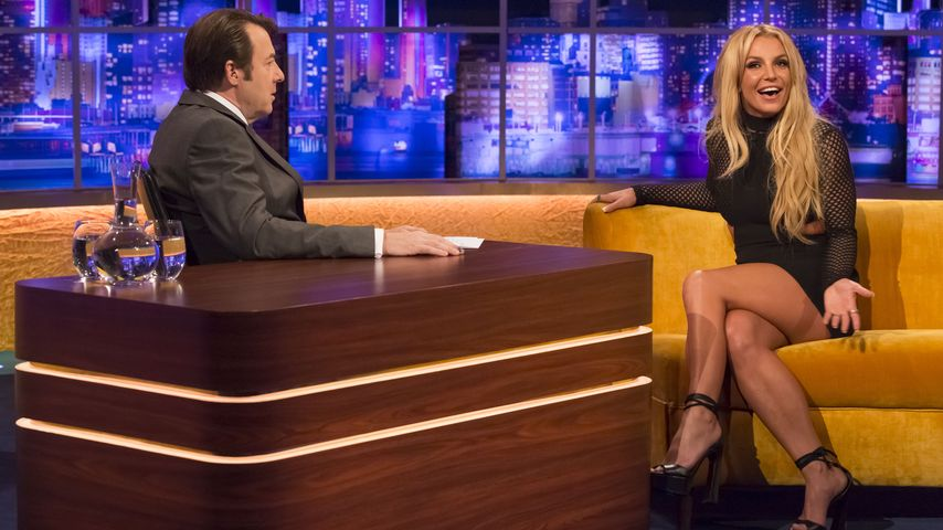 Britney Spears mit Talkmaster Jonathan Ross