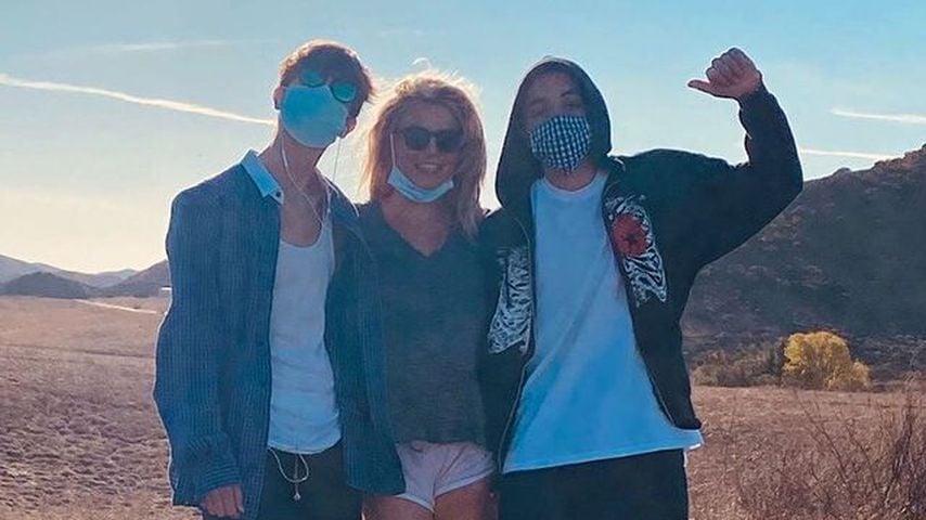 Seltenes Bild: Britney Spears posiert mit ihren zwei Söhnen