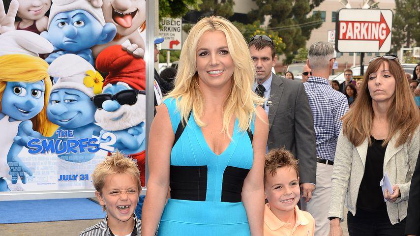 Britney Spears mit ihren Kindern Jayden und Sean, Juli 2013