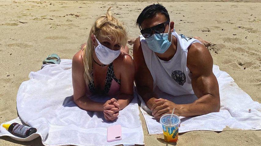 Beach-Time: Britney Spears und Sam Asghari turteln am Strand