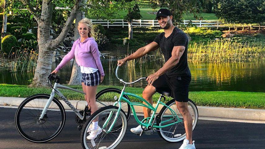 Britney Spears genießt Fahrrad-Tour mit Freund Sam Asghari