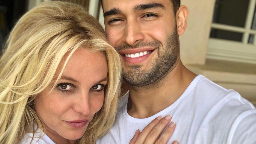 Sängerin Britney Spears und Sam Asghari