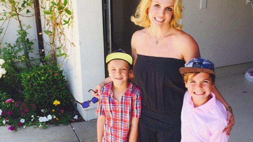 Britney Spears mit ihren Söhnen