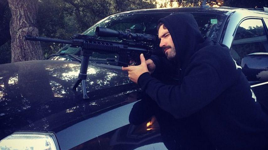 Geschmacklos? Brody Jenner posiert mit Waffe
