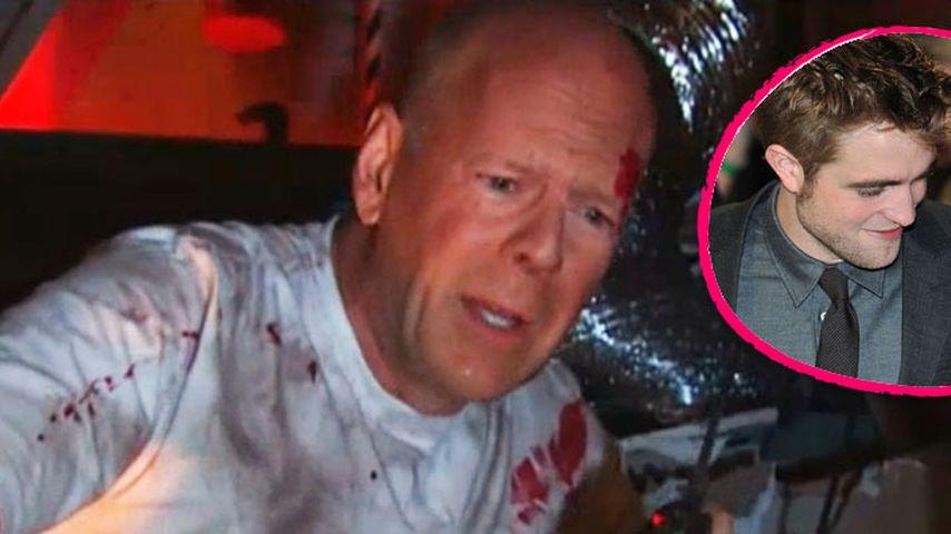 Hier weint Bruce Willis wegen Robstens Liebes-Aus