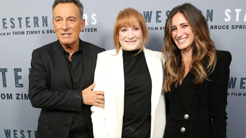 Bruce Springsteen mit seiner Frau Patti Scialfa und Tochter Jessica Rae Springsteen
