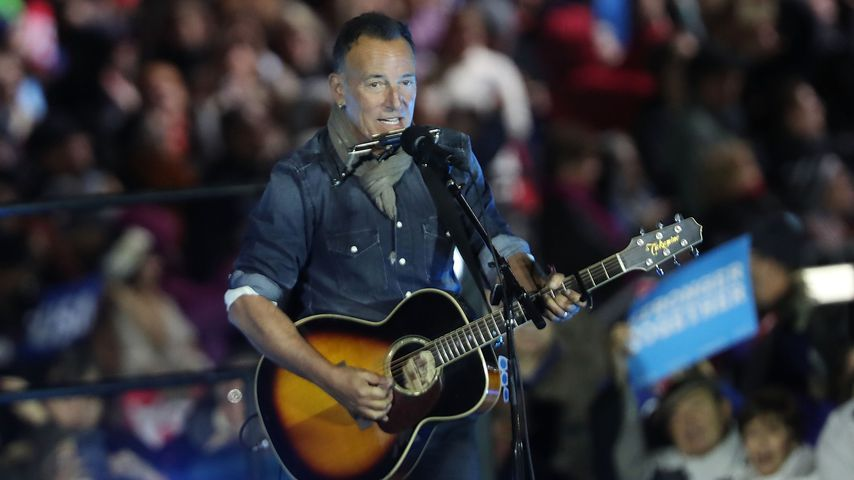 Bruce Springsteen bei einer Wahlkampfparty in Philadelphia