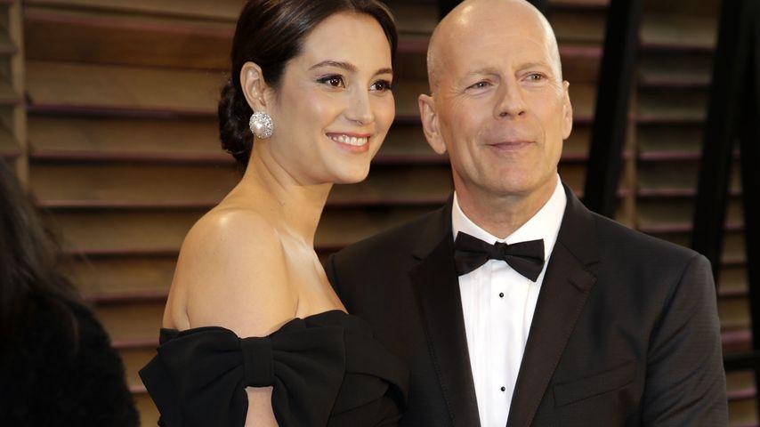 Emma Heming und Bruce Willis bei der Oscar-Verleihung 2014