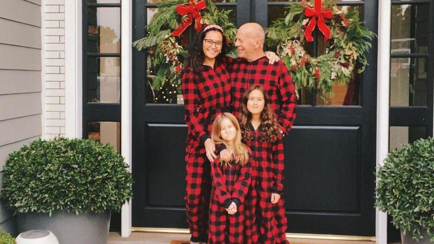 Bruce Willis und seine Familie im Dezember 2020