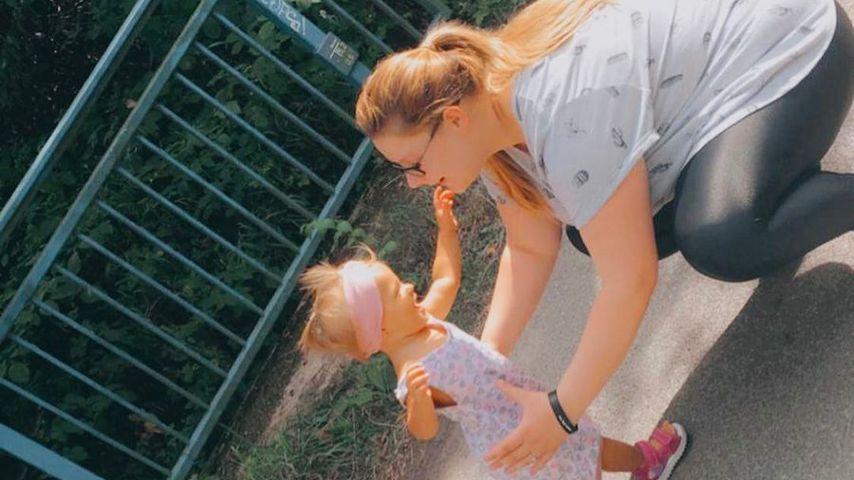 Calantha Wollny mit ihrer Tochter Cataleya, 2020