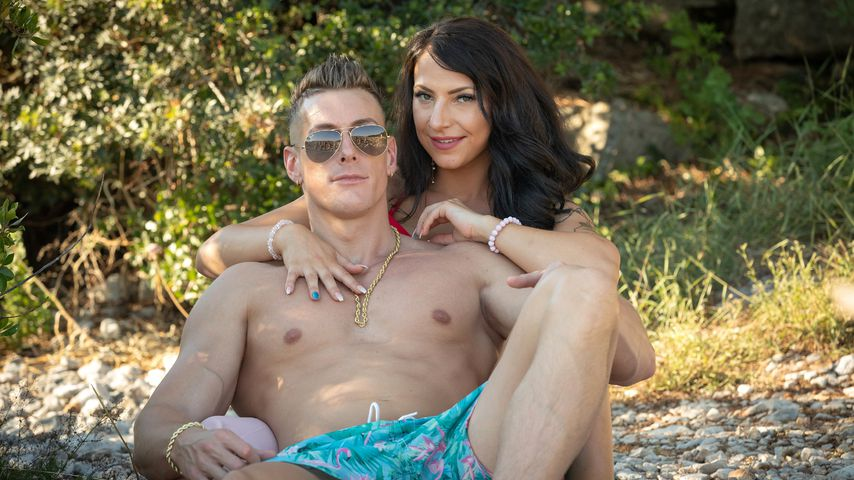 Calvin Kleinen mit seiner Freundin Roxy
