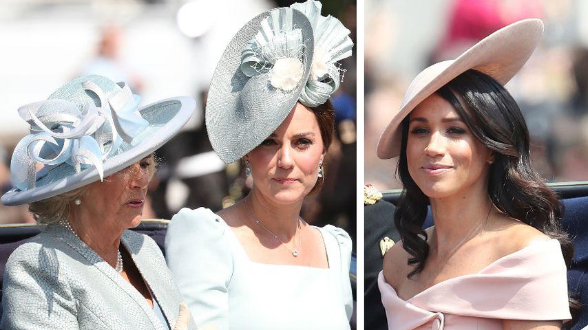 Royal Ladys in Babyblau: Nur Meghan kam in zartem Rosa!