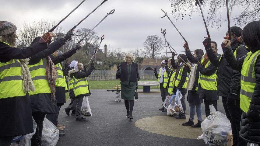 Camilla Parker Bowles bei der Organisation CleanupUK