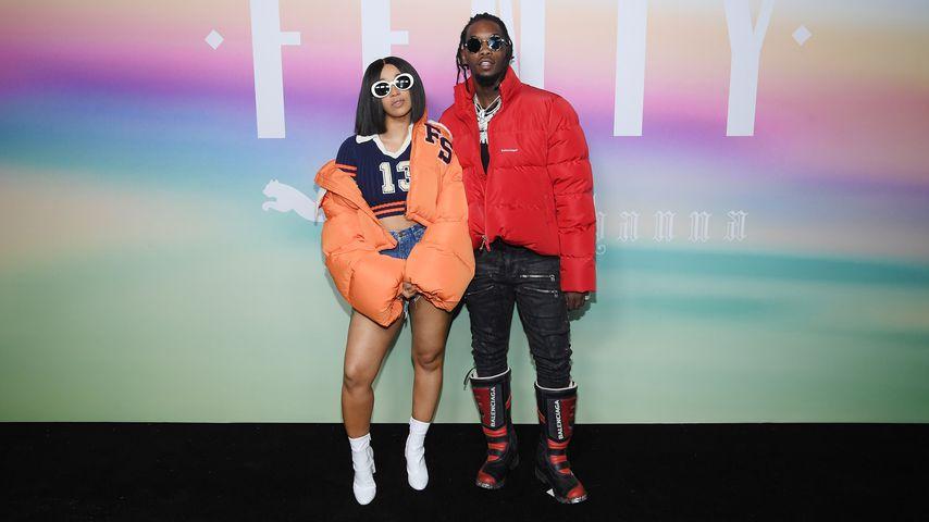 """Cardi B und Offset auf einem """"Fenty by Rihanna""""-Event im September 2017"""
