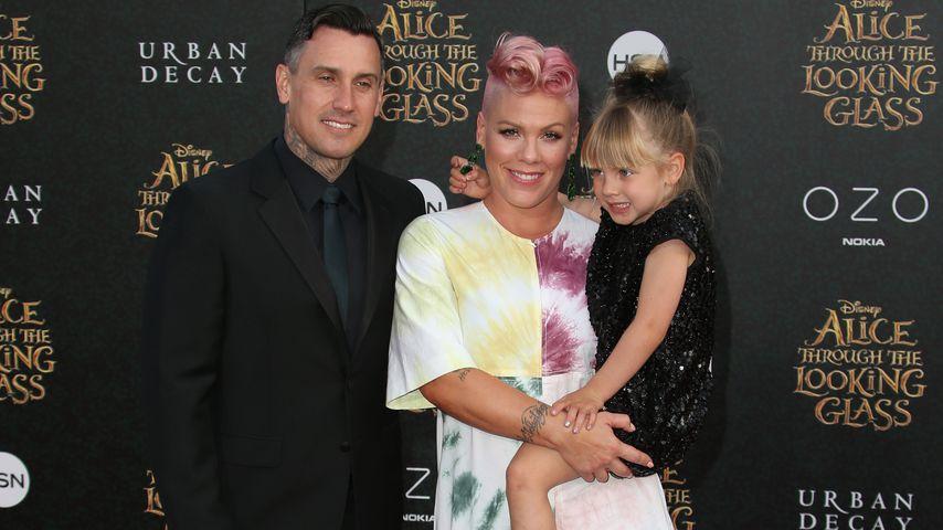 Carey Hart mit Pink und Tochter Willow