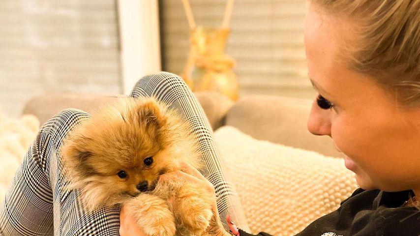 Carina Spack mit ihrem Hund