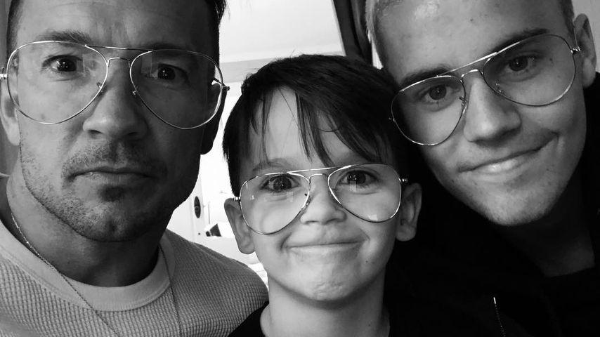 Carl Lentz, sein Sohn und Justin Bieber