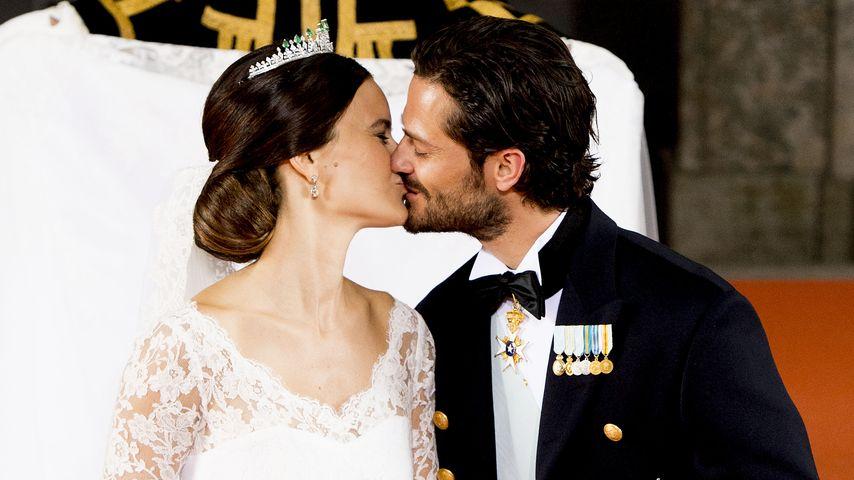 Hingebungsvoll! Sofias & Carl Philips 1. Kuss als Ehepaar