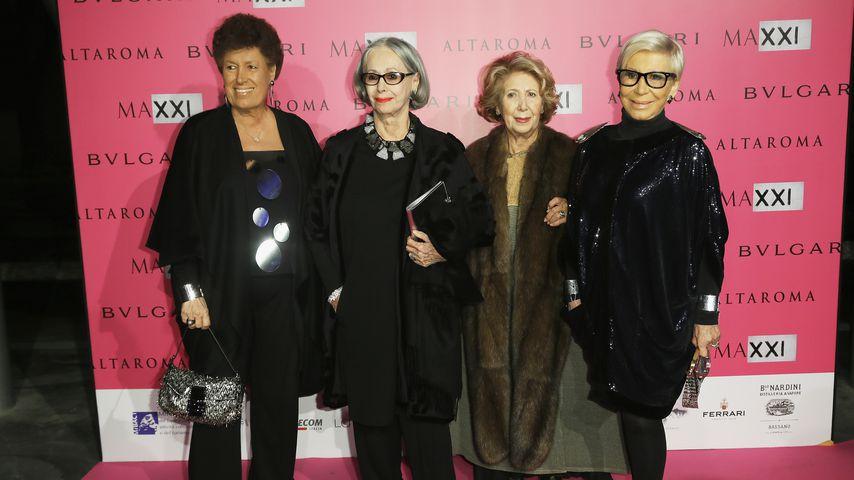Carla Fendi mit ihren Schwestern Paola, Franca und Anna