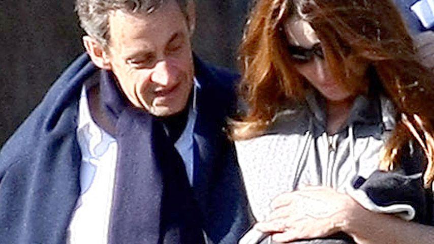 Die Sarkozys: Erster Ausflug mit Tochter Giulia