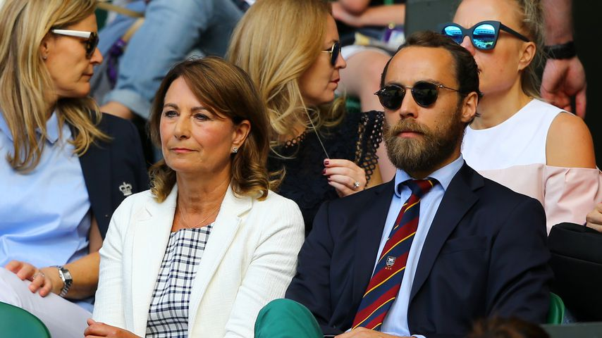 Carole und James Middleton in Wimbledon