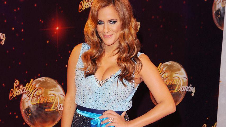 "Caroline Flack bei einem ""Strictly Come Dancing""-Event in Borehamwood im September 2014"