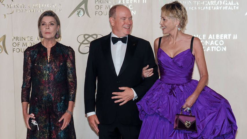 Caroline von Hannover, Albert von Monaco und Sharon Stone, September 2021