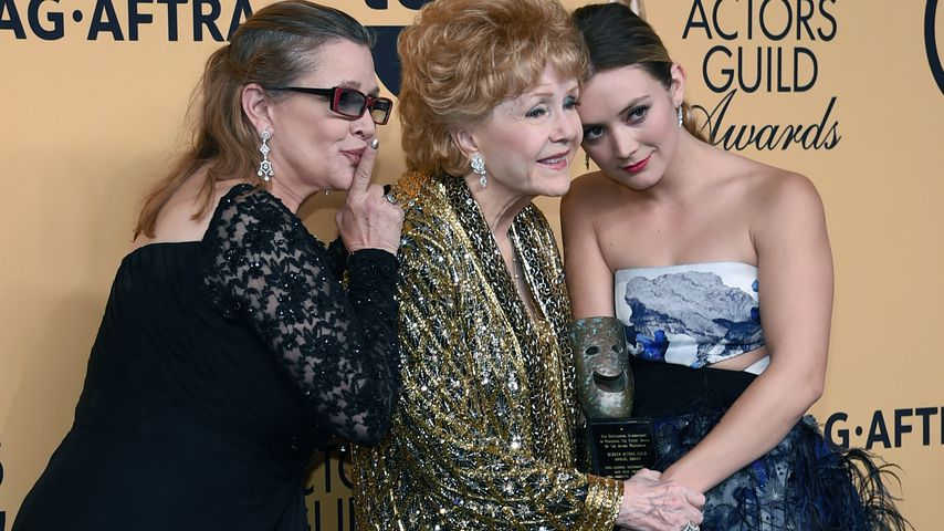 Carrie Fisher, Debbie Reynolds und Billie Lourd bei den 21. Screen Actors Guild Awards, Januar 2015