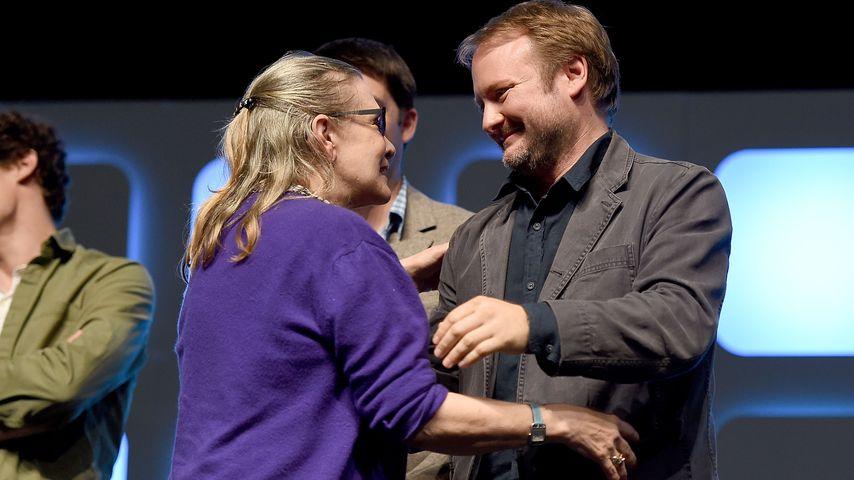 Carrie Fisher und Rian Johnson auf der Star Wars Celebration 2016