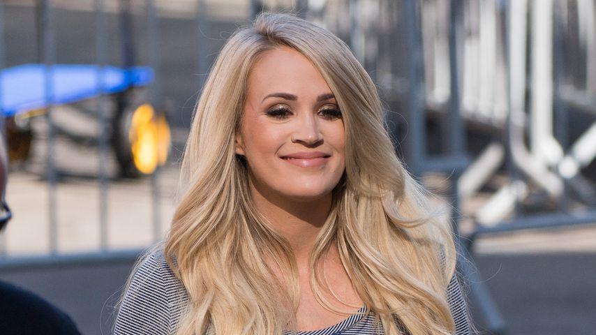 Carrie Underwood vor ihrem Auftritt in Jimmy Kimmels Show