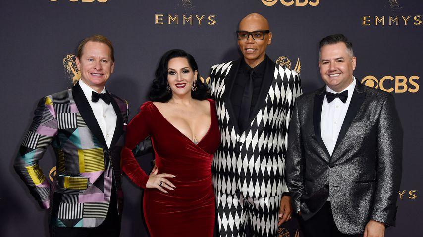 Carson Kressley, Michelle Visage, RuPaul und Ross Mathews bei den Emmys 2017