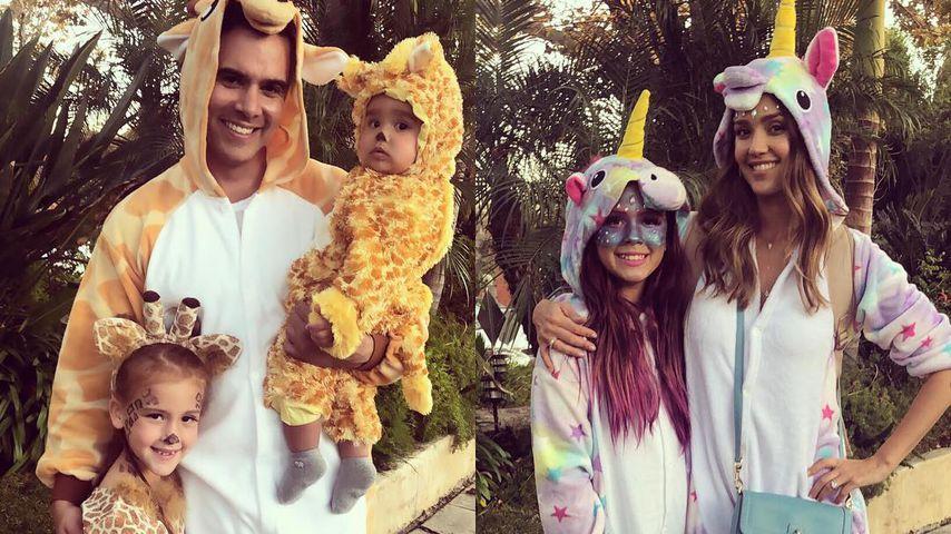 Cash Warren und Jessica Alba mit ihren Kindern
