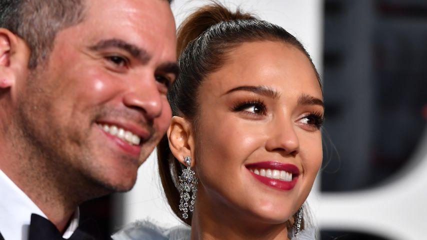 Cash Warren und Jessica Alba bei der Oscar-Verleihung 2017 in Los Angeles